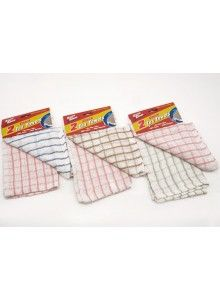 Eazee 2 clean pack of 2 check tea towels (Code 1175)