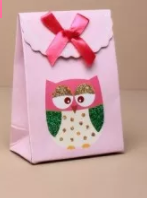 Owl gift box with velcro top - small (Code 1943)