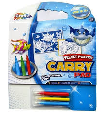 Grafix Colouring Velvet Poster Carry Pad  (Code 3195)
