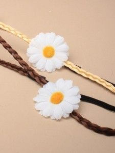 Imitation hair daisy bandeau (Code 2342)